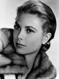 Grace Kelly wearing Fur Coat Close Up Portrait Photo by  Movie Star News