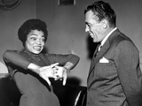 Eartha Kitt Talking in Classic Photo by  Movie Star News