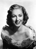 Eleanor Parker on an Off Shoulder Dress and smiling Photo by  Movie Star News
