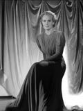 Frances Farmer on a Dark Dress sitting Portrait Photo by  Movie Star News