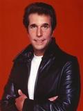 Henry Winkler in a Leather Jacket in a Red Background Photo by  Movie Star News