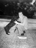 Harold Lloyd sitting in Classic Portrait Photo by  Movie Star News