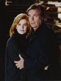 Hart To Hart Man and Woman Posed in Black and Blue Top Photo by  Movie Star News