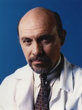 Hector Elizondo Blue Background Close Up Portrait Photo by  Movie Star News