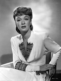 Eve Arden on Long Sleeve Dress sitting on Chair Portrait Photo by  Movie Star News