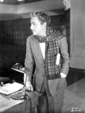 John Barrymore wearing a Suit and a Checkered Scarf Photo by  Movie Star News