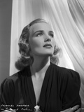 Frances Farmer on Dark Top Looking Up Photo by  Movie Star News