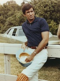 George Hamilton Leaning on a White Fence Photo by  Movie Star News