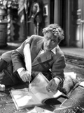John Barrymore Writing with Feather Pen Photo by  Movie Star News