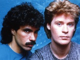 Hall & Oates in Blue Background Close Up Portrait Photo by  Movie Star News