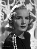 Frances Farmer on a Dark Top Portrait Photo by  Movie Star News