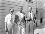 John Barrymore standing with Two Other Guy in a Classic Portrait Photo by  Movie Star News