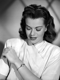 Janis Paige Looking on Her Bracelet Portrait Photo by  Movie Star News