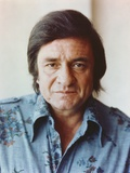 Johnny Cash Portrait in Denim Polo Photographie par  Movie Star News