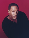 James McDaniel Posed in Black Sweater Portrait Photo by  Movie Star News