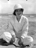 Janet Gaynor on a Long Sleeve Top sitting on a Beach Photo by  Movie Star News