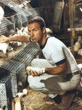 James Caan Posed with Chicken Eggs Photo by  Movie Star News
