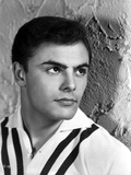 John Saxon Leaning on Stair Photo by  Movie Star News