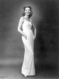 Lauren Bacall Pose wearing Long White Dress in Black and White Photo by  Movie Star News