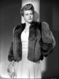 Kim Hunter on a Furry Coat and standing Portrait Photo by  Movie Star News