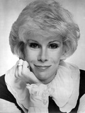 Joan Rivers wearing a Black and White Blouse in a Classic Portrait Photo by  Movie Star News