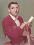 Jack Webb Portrait in Red Sweater Photo by  Movie Star News