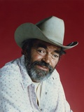 Jack Elam Red Background Close Up Portrait Photo by  Movie Star News