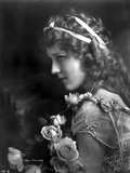 Mary Pickford on a Lace Dress with Flowers Photo by  Movie Star News