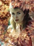 Jean Seberg in Red Dress Portrait Foto af  Movie Star News