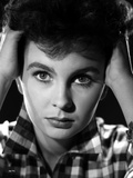 Jean Simmons Portrait in Checkered Long Sleeve Collar Shirt Photo by  Movie Star News