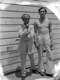 John Barrymore Taking a Picture with and Old Guy in a Classic Portrait Photo by  Movie Star News