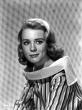 Inger Stevens in a Stripe Blouse Photo by  Movie Star News