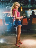 Jessica Simpson in Red Shirt and Denim Mini Skirt Portrait Photo by  Movie Star News