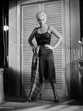 Kim Novak Posed in Dress Black and White Portrait Photo by  Movie Star News