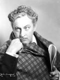 John Barrymore Posed in Checkered Portrait Photo by  Movie Star News