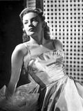 Joan Leslie on a Silk Dress Reclining and posed Photo by  Movie Star News