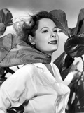 Jane Greer on a Long Sleeve Top with a Handkerchief on Neck Portrait Photo by  Movie Star News