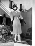 Martha Raye on a Dress standing and smiling Photo by  Movie Star News