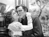 John Barrymore Having a Kissing Scene with a Woman in a Classic Movie Scene Photo by  Movie Star News