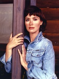 Janine Turner Portrait in Blue Jacket Photo by  Movie Star News
