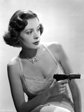 Jane Greer on a Lace Top Holding a Gun Photo by  Movie Star News