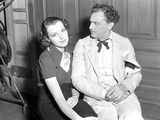 John Barrymore Seated with Woman Photo by  Movie Star News