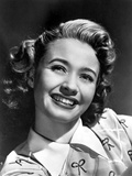 Jane Powell on a Printed Top and smiling Photo by  Movie Star News