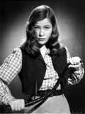 Nancy Olson on a Checkered Long Sleeve with Vest Photo by  Movie Star News