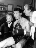 Jack Palance sitting in Chair With Boxing Gloves Photo af  Movie Star News
