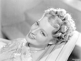 Jeanette MacDonald Close Up Portrait in Glittered Shoulder Dress Photo by  Movie Star News