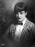 Lya De Putti Posed in Stripes Suit with bow Tie Photo by  Movie Star News