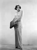 Jane Greer on a Dress Holding a Bag Portrait Photo by  Movie Star News