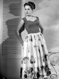 Martha Hyer on Printed Skirt Photo by  Movie Star News