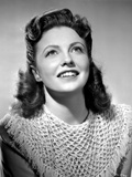 Joan Leslie on an Knitted Top and Looking Up Photo by  Movie Star News